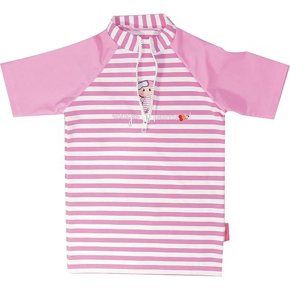 759923dd08 MayoParasol - Emma transat Tshirt Top Maillot Anti UV Manches Courtes Emma  Junior: Amazon.fr: Vêtements et accessoires