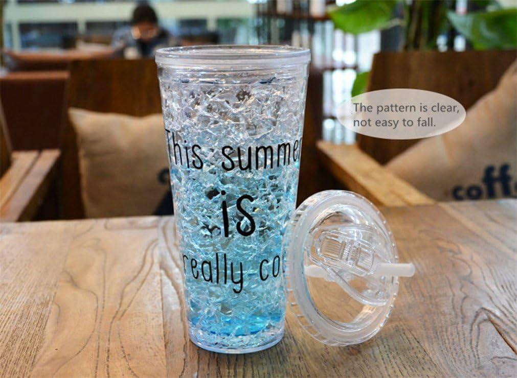 MIRUIKE Copa de hielo de verano con taza de plástico congelador ...