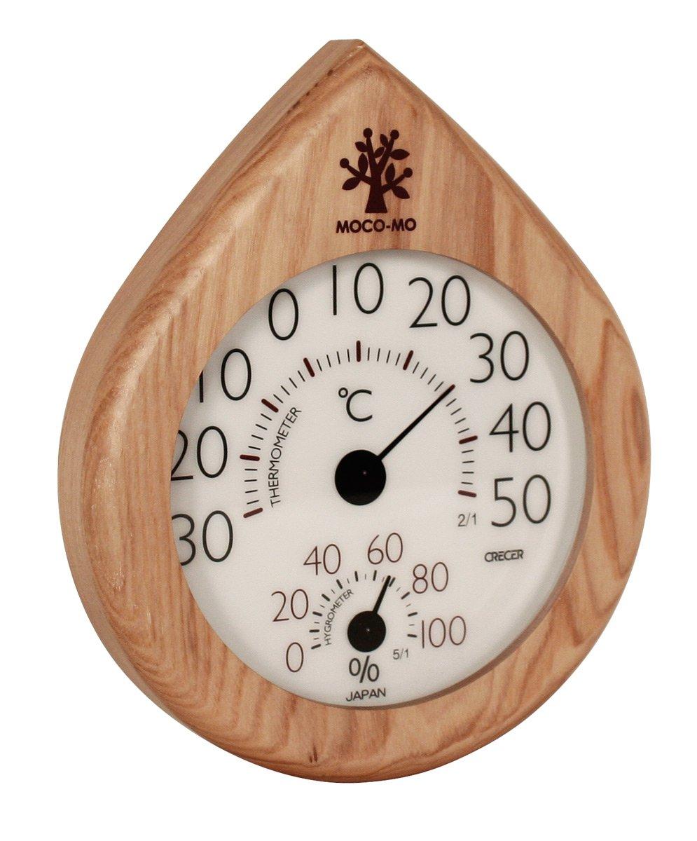 ウッドニー MOCO-MO モコモ 壁掛温湿度計 MM026-HN B006QA8NM0