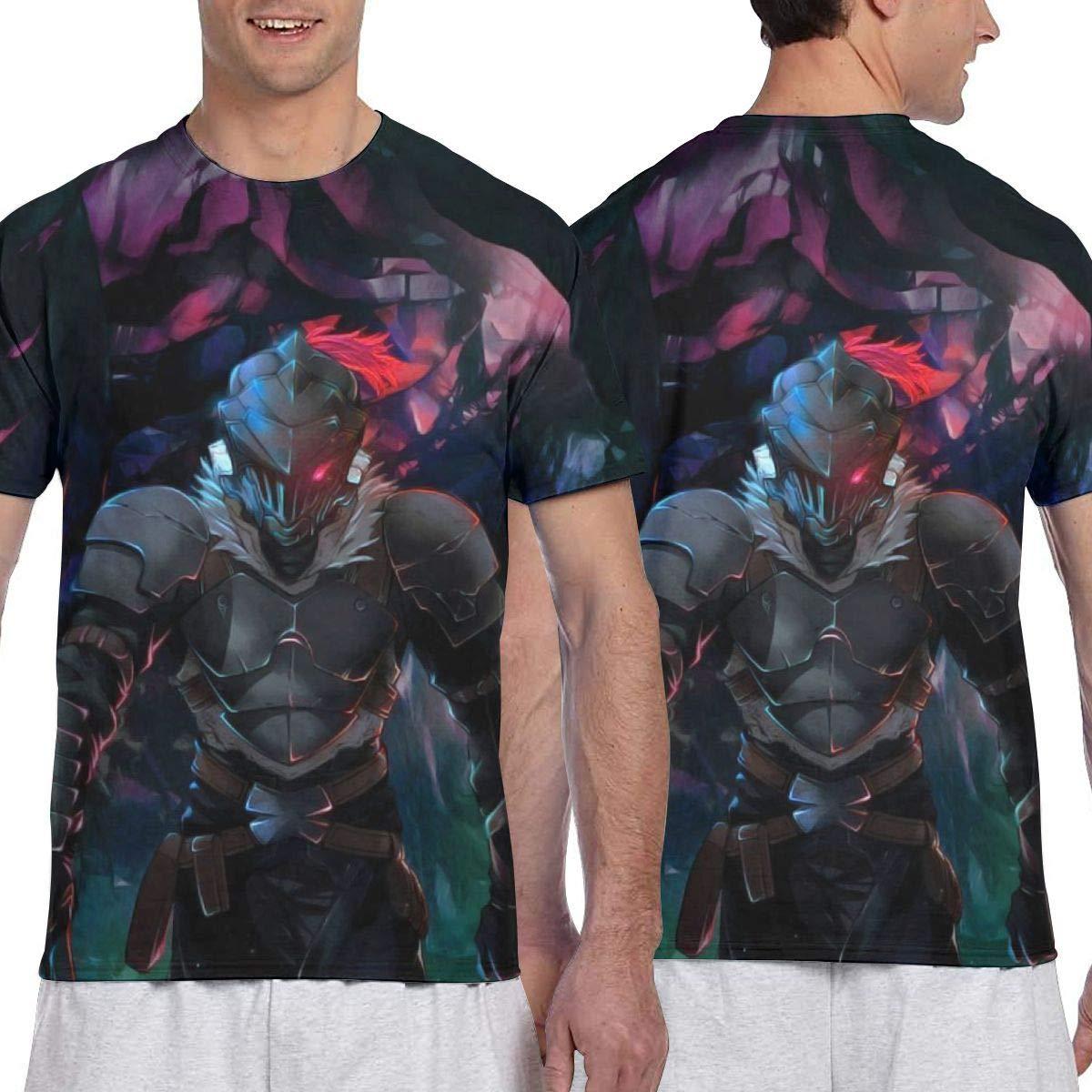 Goblin Slayer Anime Men Two Side Print Polyester Short Sleeve Shirt
