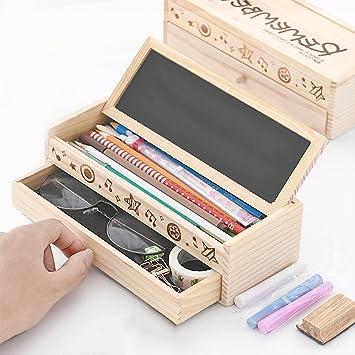 icheap Madera Pencil Case para niños, estuche Chica, lápices ...