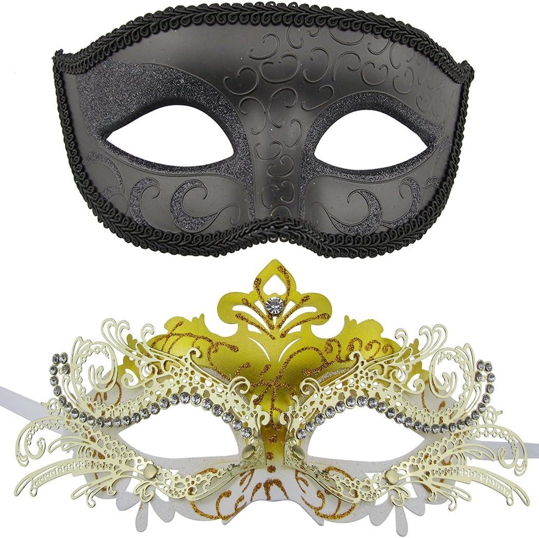 Or masquerade bordure dorée masque style vénitien déguisement visage masque yeux