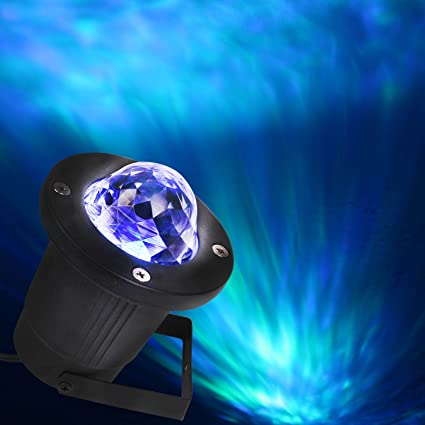 ocean wave led christmas night light projector christmas wall decoration light with ir wireless remote