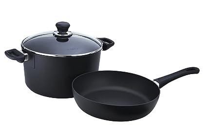 Amazon.com: Scanpan Classic 3-Piece Cookware Set: Saute Pans ...
