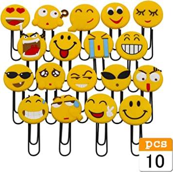 JZK 20 x Emoji Lesezeichen Kinder Lesezeichen Party Favors Mitgebsel Gastgeschenk Geschenk f/ür Kinder Party Geburtstag