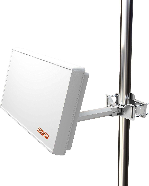 Distribuidor Selfsat con Antena Unicable 2 (Incluye 2 Salidas Legacy), Color Blanco.