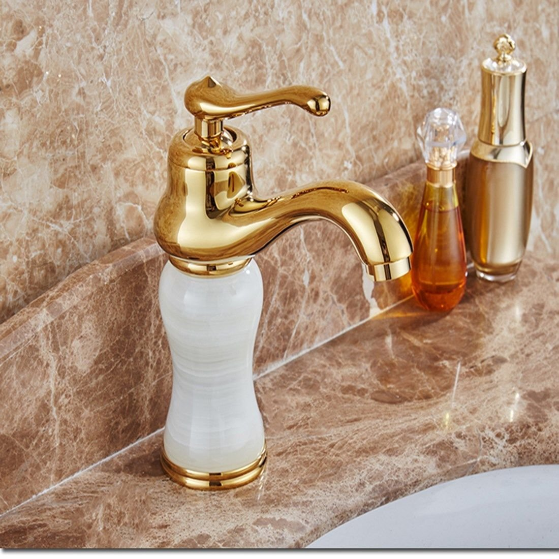 Kokeruup European-Style redating Copper Retro American Antique Faucet Bathroom gold-Plated hot and Cold redating Faucet