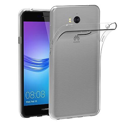 iVoler Funda Carcasa Gel Transparente para Huawei Y6 2017 / Huawei Nova Young, Ultra Fina 0,33mm, Silicona TPU de Alta Resistencia y Flexibilidad