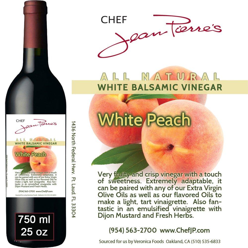 Traditional Barrel aged 12 years ''Peach White Balsamic'' 100% ALL NATURAL vinegar 750ml (25oz)