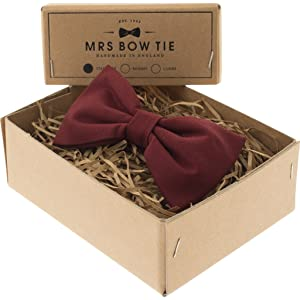 Mrs Bow Tie Cotton Ready-Tied Bow Tie - Port