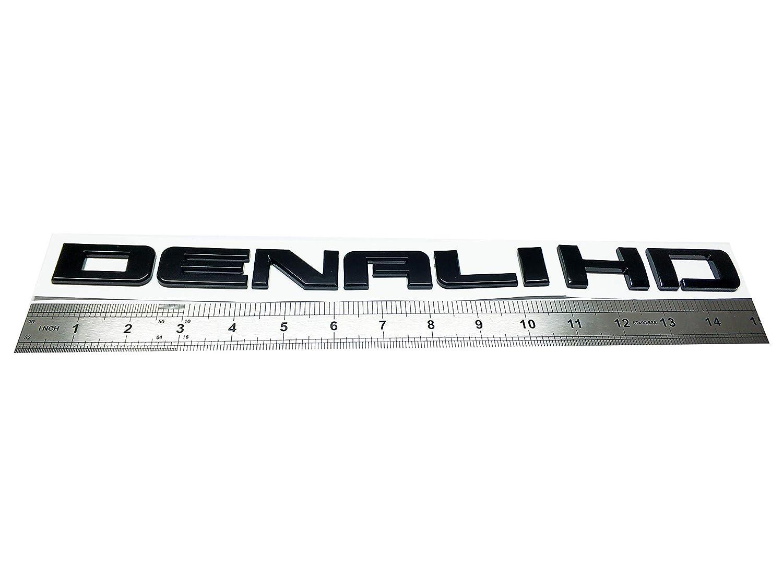 New 11-18 Matte Black GMC Sierra Denali Duramax 2500HD 3500HD Badges Emblem Set