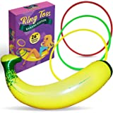 Inflatable Banana Ring Toss Bachelorette Party Games - Bridal Shower Game, Decorations and Supplies for Engagement…