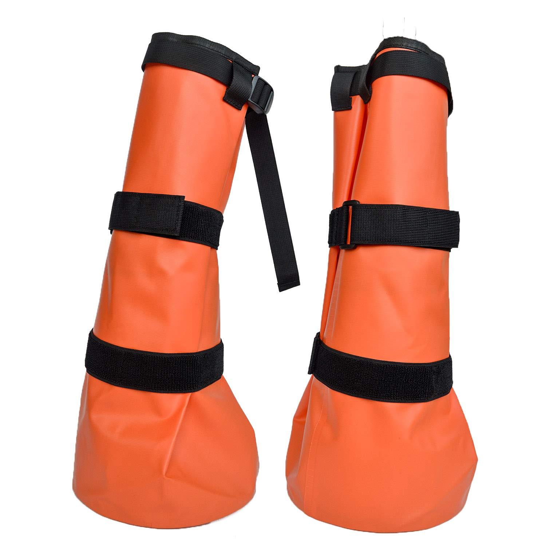 Yeezo Hoof Soaking Bag Horse Soaking Boot Hooves Wrapped Easy Soaker Treating Bags with EVA Pad Pack of 2 by Yeezo