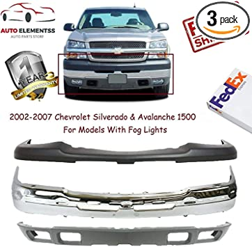 Front License Plate Bracket Primed For Silverado 1500 HD 03-06