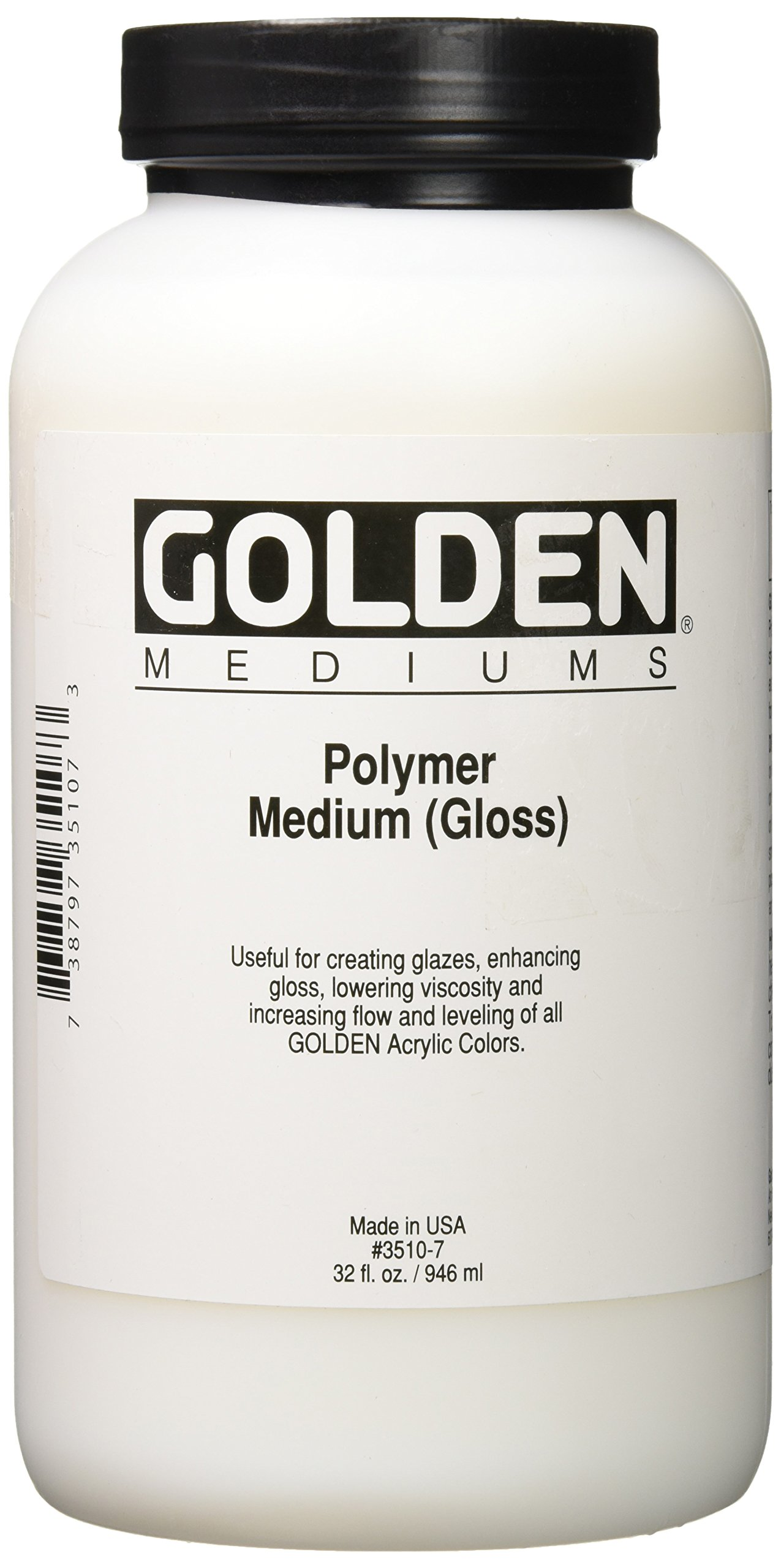 Golden 0003510-7 32oz. - 946ml - Gloss Polymer Jug - Medium