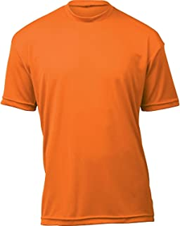 product image for WSI Microtech Loose Short Sleeve Shirt, Orange, Youth Large
