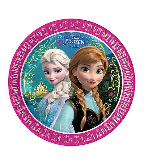 Disney Frozen Elsa u0026 Anna Girls Paper plate - fuchsia  sc 1 st  Amazon UK & Disney Frozen Elsa u0026 Anna Girls Paper plate - fuchsia: Amazon.co.uk ...