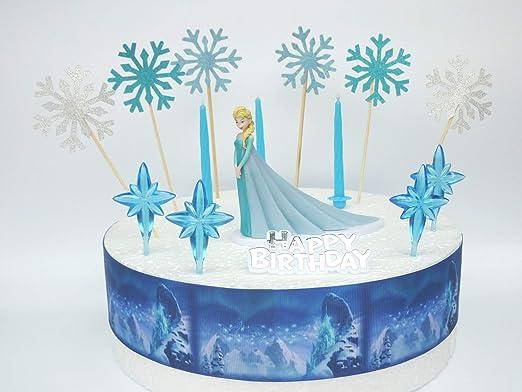 ELSA Frozen - Juego de decoración para tarta de cumpleaños ...