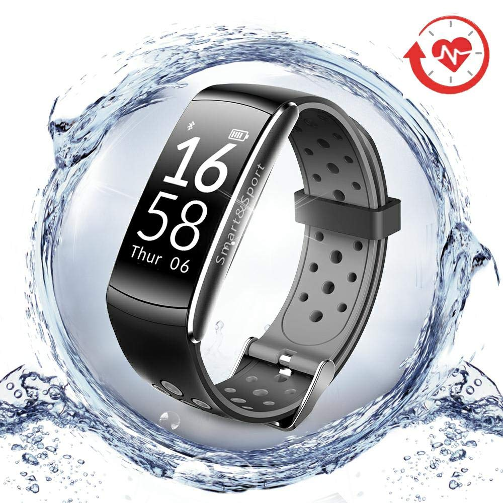 LNGOOR Fitness Tracker Watch Activity Tracker Watch - Fitness Watch, IP68 Waterproof Step Calorie Counter Pedometer Watch for Yoga,Running,Cycling