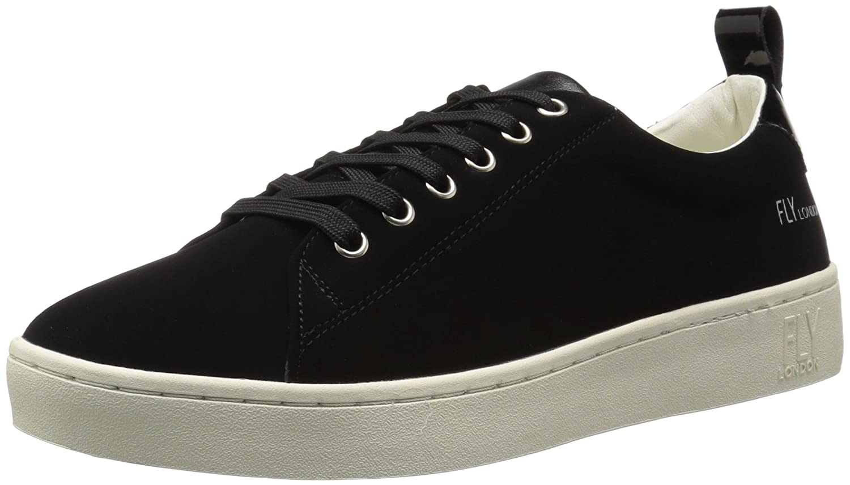 FLY London Women's Maco833fly Sneaker B06X9C5MGX 38 M EU (7.5-8 US)|Black Nubuck/Patent