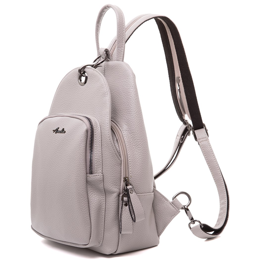 Women Backpack Purse, Small Shoulder Bag Lightweight School Travel PU Leather Purse with Convertible Shoulder Strap by AMELIE GALANTI