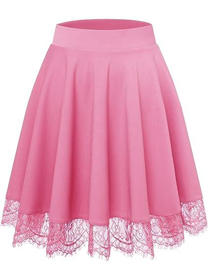 Bbonlinedress Falda Mujer Mini Corto Elástica Plisada Básica ...