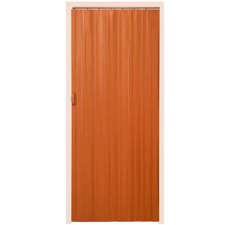 TecTake Porte extensible accord/éon 80 x 203 cm plastique PVC porte pliante Ch/êne fonc/é | no. 400959 diverses couleurs au choix