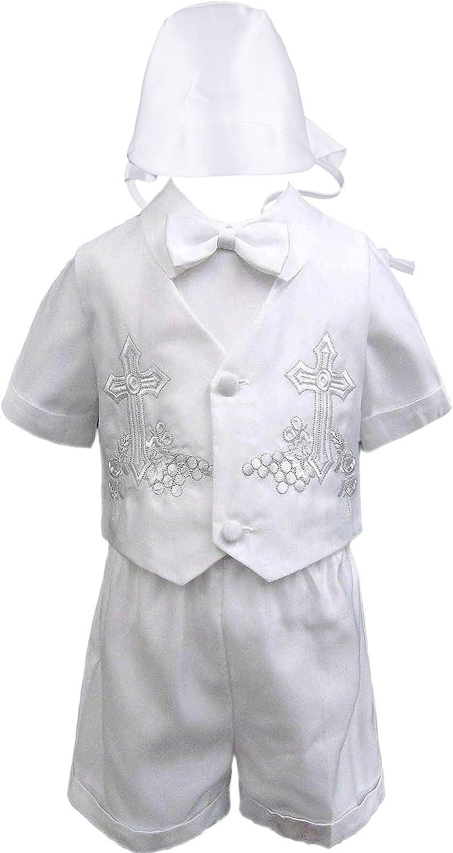 Infant Boys Toddler Christening Baptism Formal Black Tuxedo Suits New Born 0M-3T