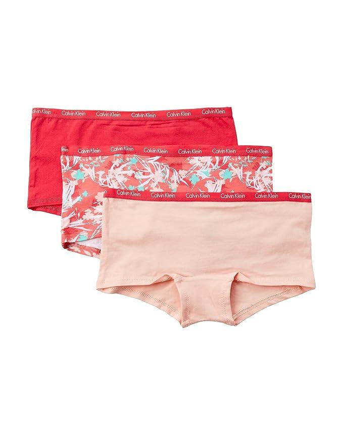 59463c5c9a5a Amazon.com: Calvin Klein Girls' Chrome Fashion Boyshort (Pack of 3):  Clothing