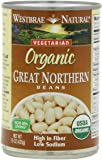 Westbrae Natural Organic Great Northern Beans, 15 Ounce Cans (Pack of 12)