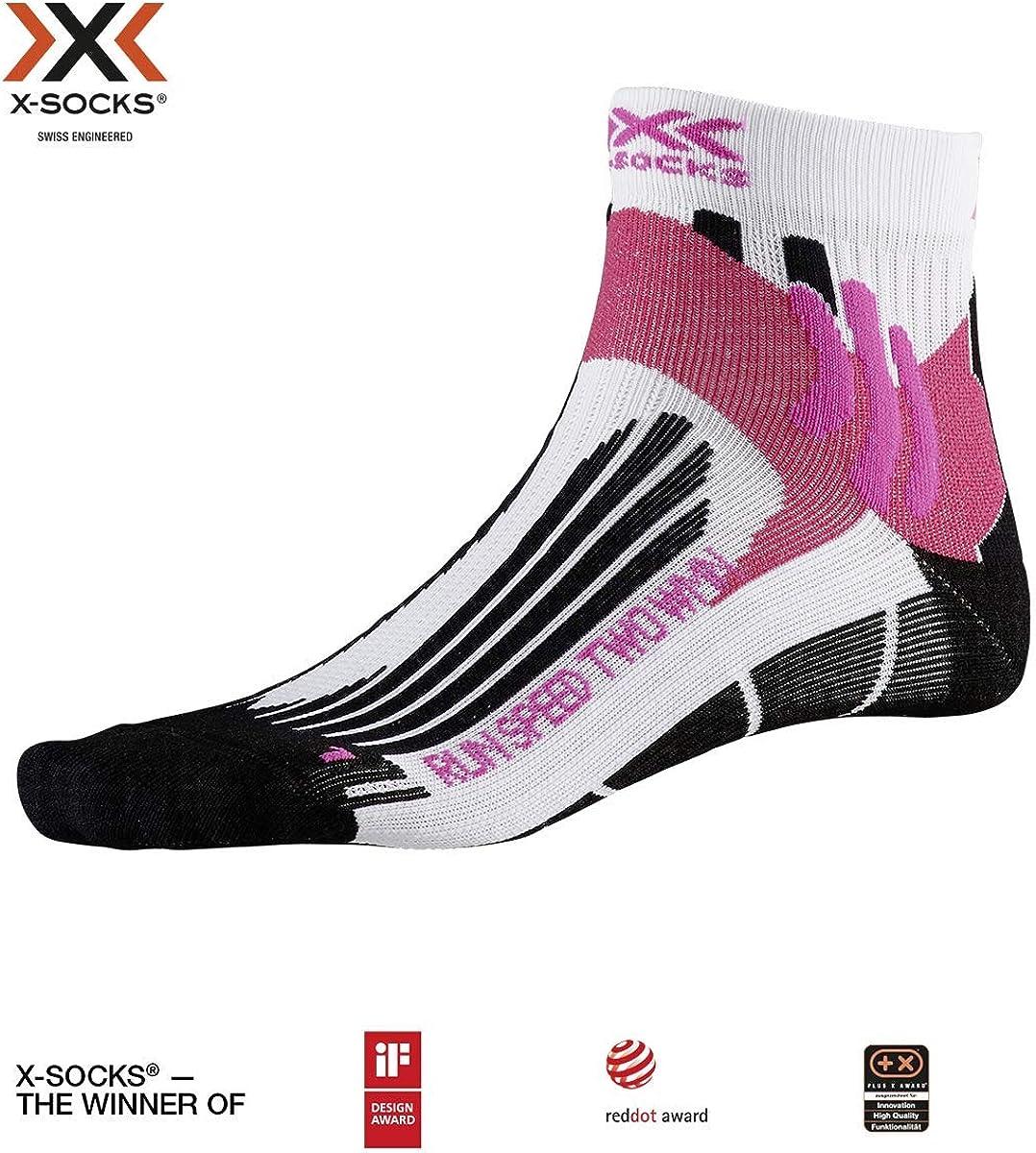 X-Socks Run Speed Two WMN Socks, Mujer, Arctic White/Opal Black