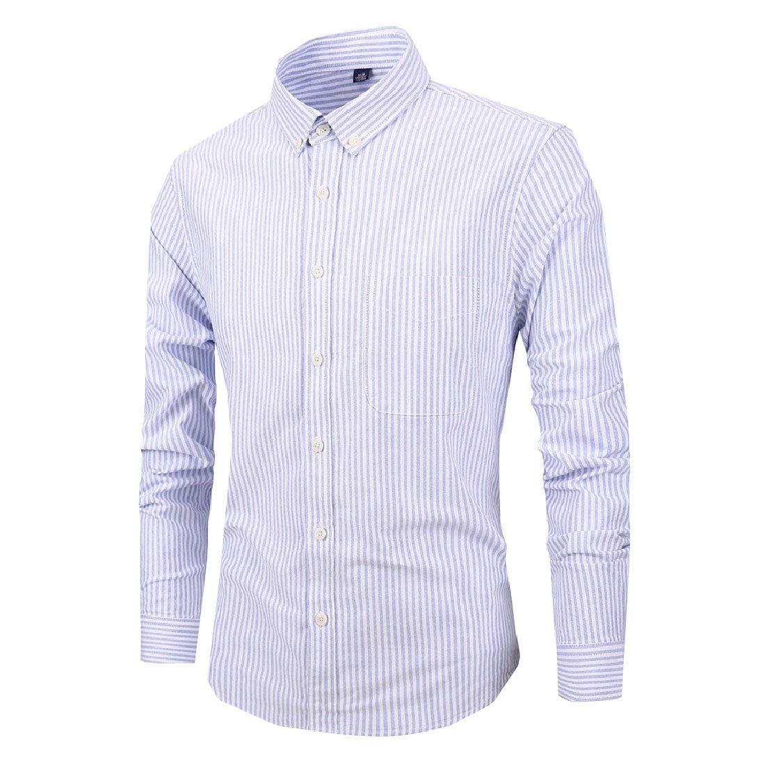 RDHOPE-Men Long Sleeve Striped Fitting Quilted Cotton Shirts