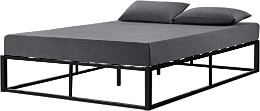 ® Metallbett 180x200cm Weiß Bett Bettgestell Doppelbett en.casa Lattenrost
