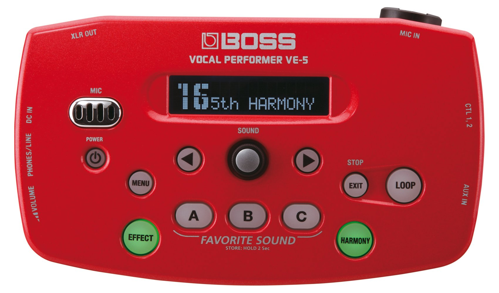 Boss VE-5 Vocal Performer Effect Processor (Red)