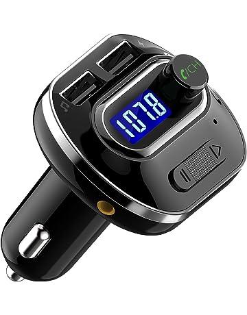 VicTsing Transmisor FM Bluetooth 4.1 para Coche,Mini Manos Libres Emisor,AUX Salida,