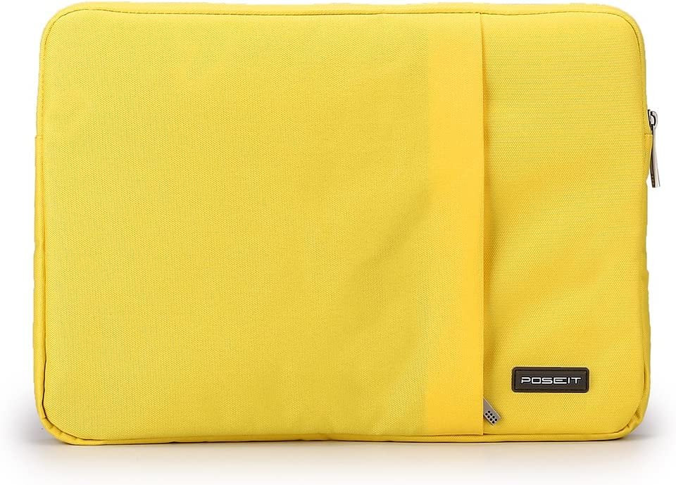 "Waterproof & Shockproof Laptop Tablet Notebook Sleeve Case Bag Pouch Cover for MacBook Pro Retina Air 11 12-inch iPad Pro Ultrabook Chromebook 10.6"" 11"" 11.6"" 12.1"" inch (Yellow)"