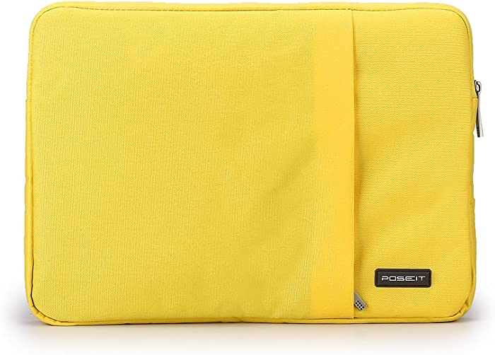 """Waterproof & Shockproof Laptop Tablet Notebook Sleeve Case Bag Pouch Cover for MacBook Pro Retina Air 11 12-inch iPad Pro Ultrabook Chromebook 10.6"""" 11"""" 11.6"""" 12.1"""" inch (Yellow)"""