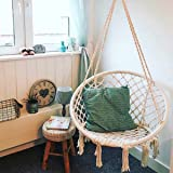 Hanging Chair, Essort Hammock Chair, Hanging Cotton Rope Macrame Hammock  Swing Chair For Outdoor