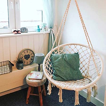chair cotton use swing indoor hanging sorbus review rope by macrame for hammock