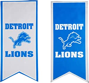 Team Sports America Detroit Lions Flag Banner Double Sides 12.5 x 28 Inches