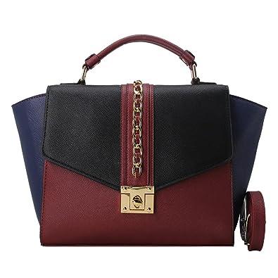 d29cc94af8 Be Exclusive Sac à main tricolore Mode Bordeaux pour femme pas cher Paris.