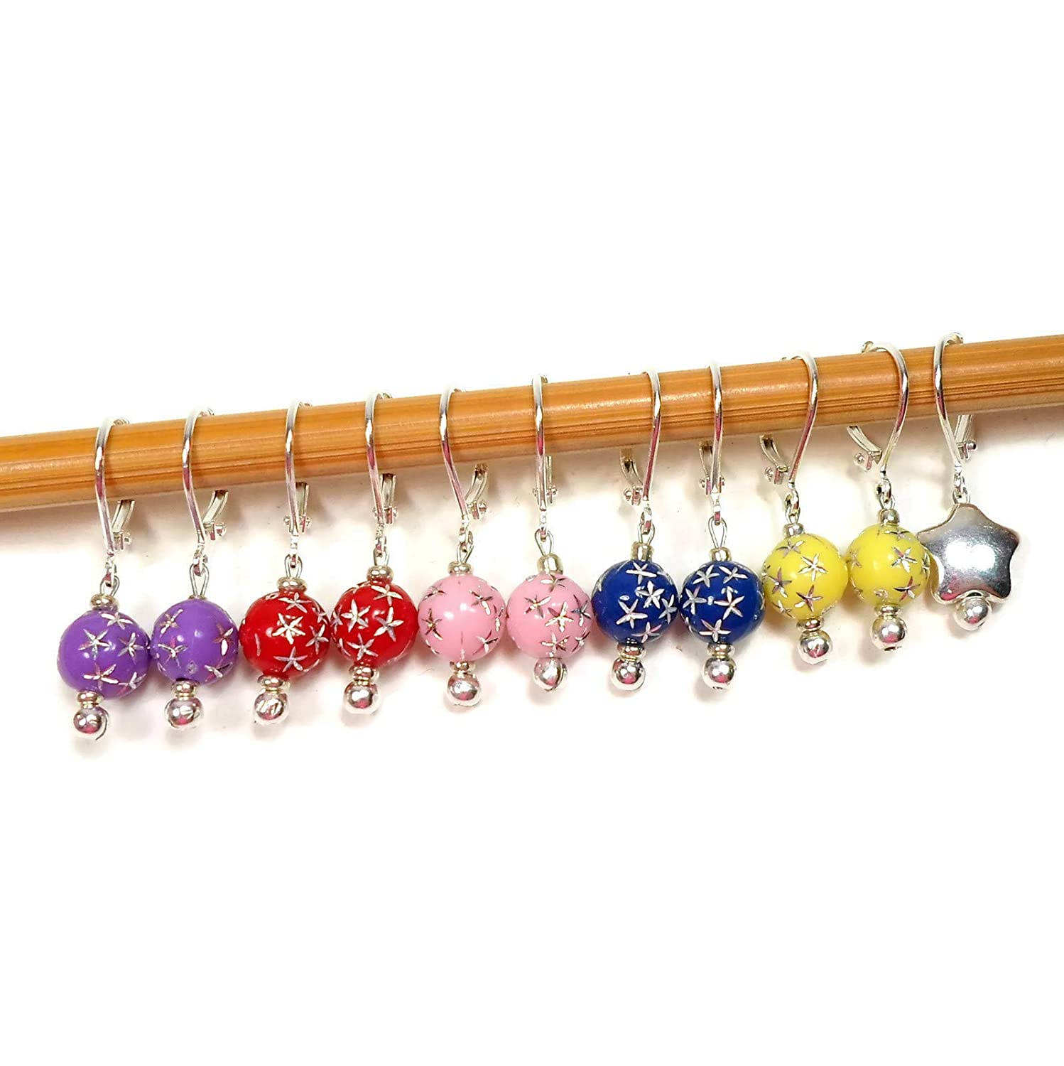 Handmade Multi-colored Removable Stitch Markers