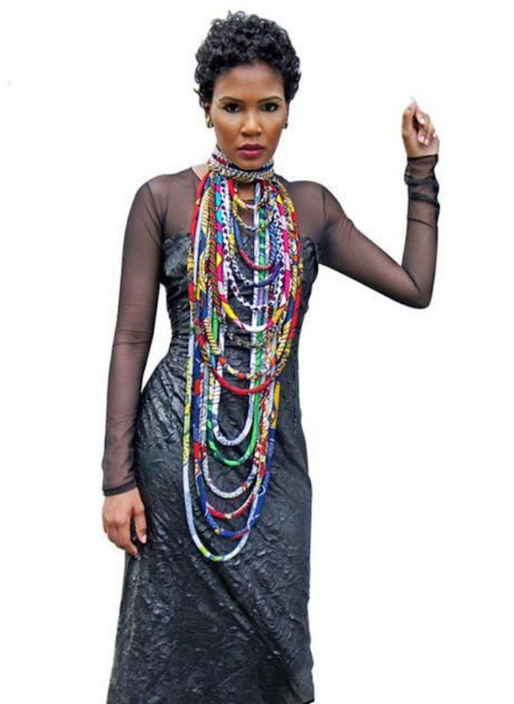 Colorful Handmade African Ankara Necklace Wax Print Dashiki Fabric Necklace Shawl by BintaRealWax (Image #2)