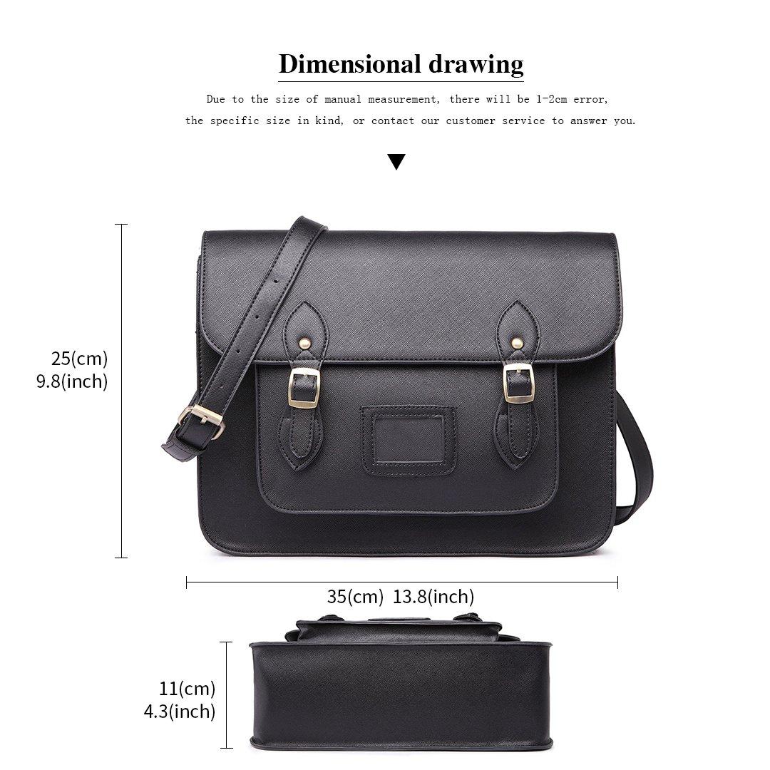 Amazon.com  Miss Lulu Fashion Brand Design Handbag Polka Dot Faux Leather  Work Briefcase Satchel Bag School Handbags (1665 Black)  Shoes 6e35831a8ec1c