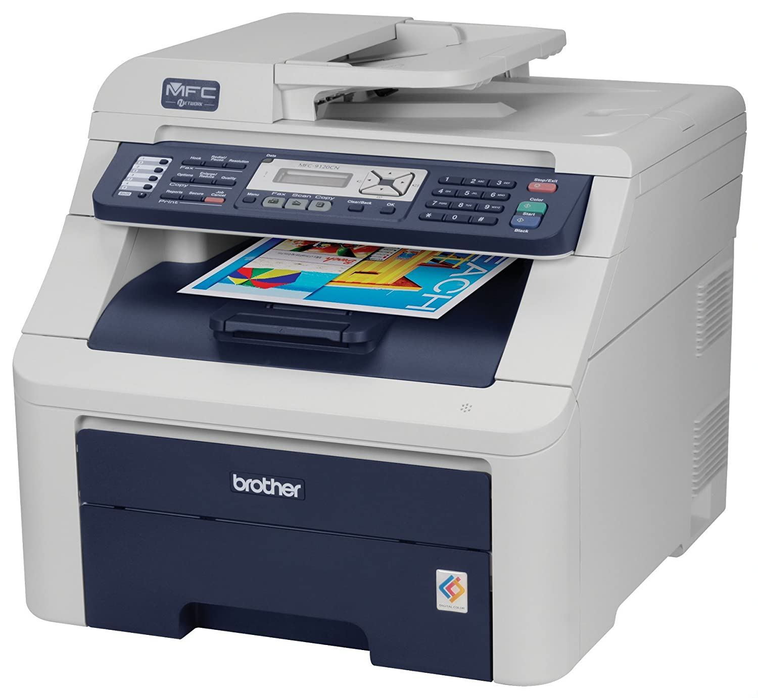 Amazon.com: Brother MFC-9120CN Color All-in-One Printer, con ...