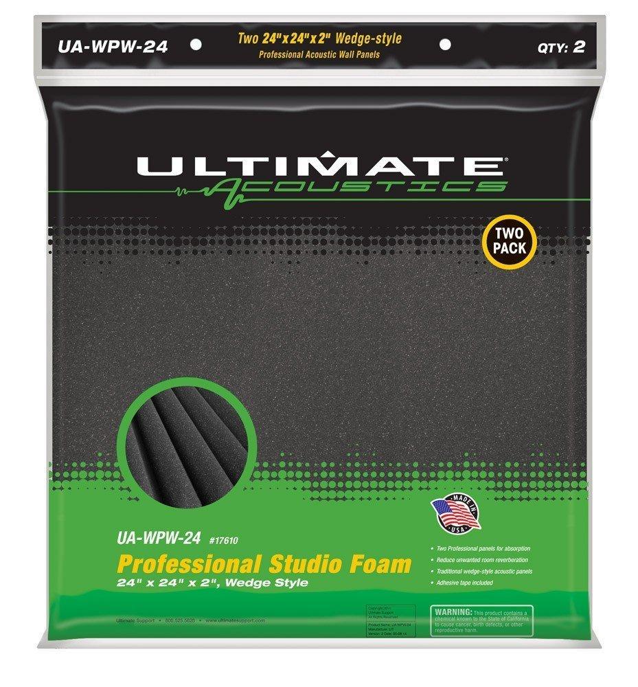 Ultimate Acoustics 24'' Acoustic Panel - Wedge, Burgundy (UA-WPW-24) by Ultimate Acoustics