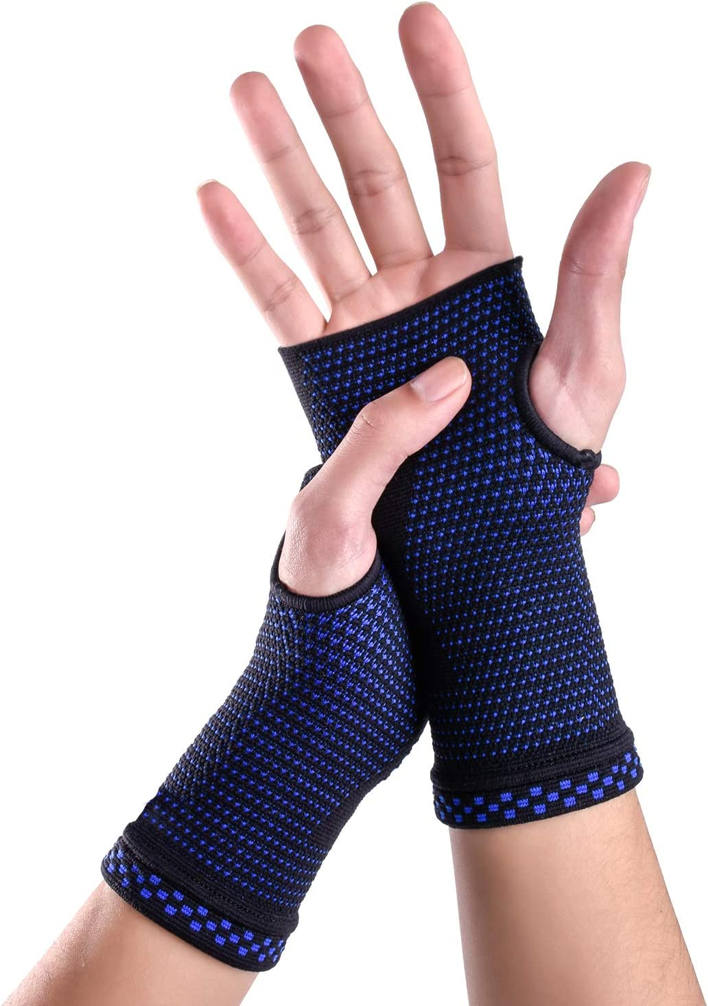 Compression Wrist Sleeves Medical Grade Wrist Band Brace Support Recovery Brace Wrap Sleeve 2 Sleeves Woman Man Unisex for Arthritis Carpal Tunnel Sports Muscle Joint Pain