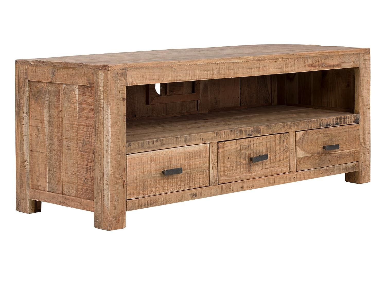 massivum TV-Bank Kentucky massiv Akazie lackiert Lowboard TV-Möbel Wohnzimmer Schränke Holz Möbel