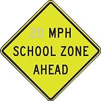 Accuform __ MPH SCHOOL ZONE AHEAD (FRW27020)