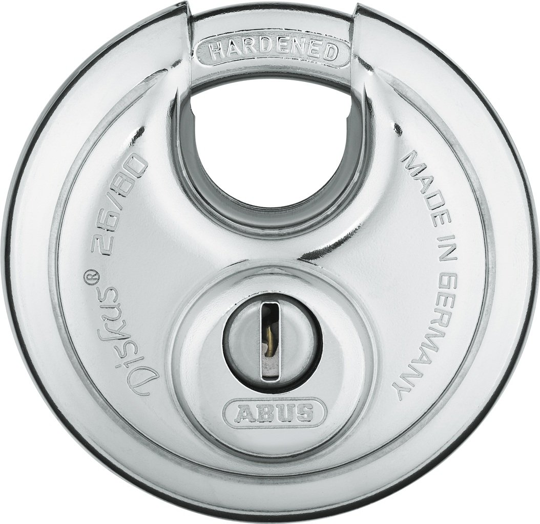 ABUS 26/80 KD B High Security Stainless Steel Keyed Different Diskus Padlock